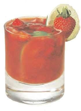 Agua Luca Strawberry Caipirinha Cocktail Photo