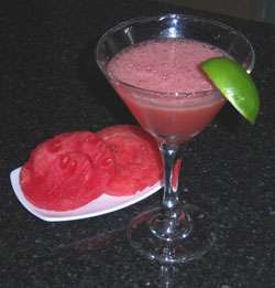 Tequila Honeysuckle with Watermelon Cocktail Photo