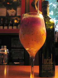 Lucid Brazilian Sangria Cocktail Photo