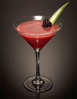Blackberry and Pineapple Smash Cocktail Photo