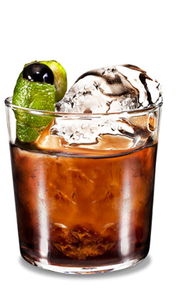 Kahlua Black Russian Lime Cocktail Photo