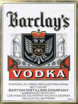 Barclay's Vodka Photo
