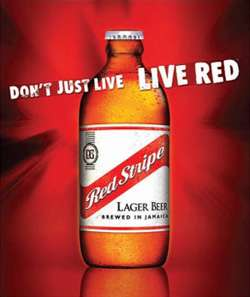 Red Stripe Beer Photo