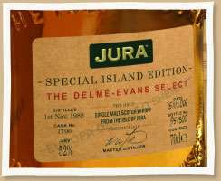 Isle Of Jura Delme Evans Special Edition Single Malt Scotch Photo