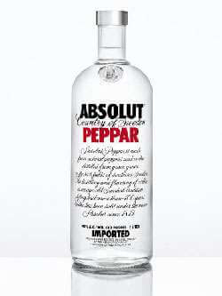 Absolut Peppar Vodka Photo