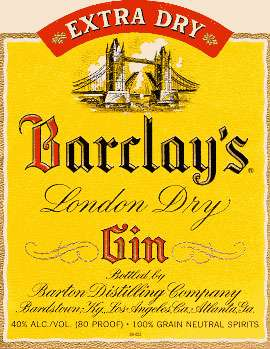 Barclay's London Dry Gin Photo